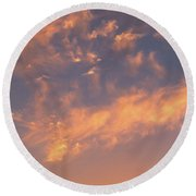 Sunset Over The Moscow River Round Beach Towel