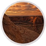 Sunset Over The Rim Of Canyon De Round Beach Towel