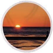 Sunset Park Petoskey Mi Round Beach Towel