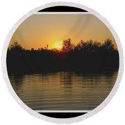 Sunset Pond Round Beach Towel