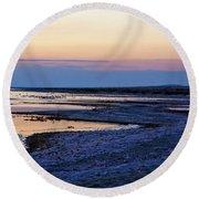 Sunset Salton Sea North Round Beach Towel