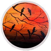 Sunset Secrets Round Beach Towel
