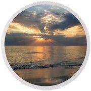 Sunset Sky Round Beach Towel