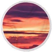 Sunset Skyscape Round Beach Towel