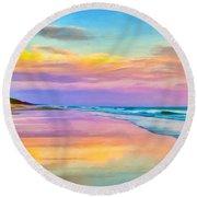 Sunset South Of Todos Santos Round Beach Towel