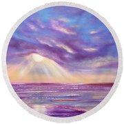 Sunset Spectacular Round Beach Towel