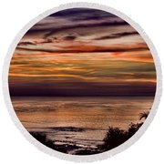 Sunset Swirl Round Beach Towel