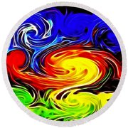 Sunset Swirl Round Beach Towel by Stephen Younts