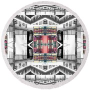 Sunset Two Gray Hill Round Beach Towel