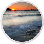 Sunset Uncovered Round Beach Towel