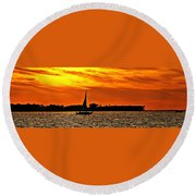 Sunset Xii Round Beach Towel