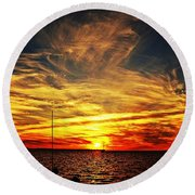 Sunset Xiii Round Beach Towel