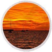 Sunset Xix Round Beach Towel