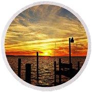 Sunset Xv Round Beach Towel