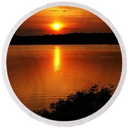Sunset Xvi Round Beach Towel