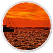 Sunset Xxii Round Beach Towel