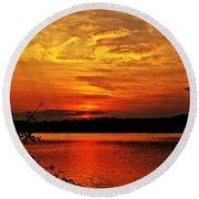 Sunset Xxiv Round Beach Towel