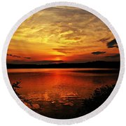 Sunset Xxv Round Beach Towel