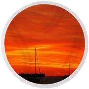Sunset Xxvii Round Beach Towel