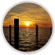 Sunset Xxviii Round Beach Towel