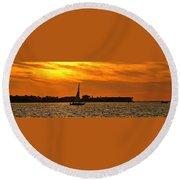 Sunset Xxxiii Round Beach Towel