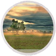 Sunshine On A Cloudy Day Round Beach Towel