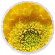 Sunshine Yellow Round Beach Towel