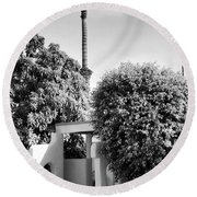 Suntan Lane Palm Springs Round Beach Towel