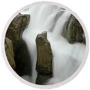 Sunwapta Falls 2 Round Beach Towel
