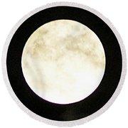 Super Moon I Round Beach Towel