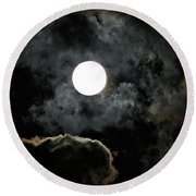 Super Moon II Round Beach Towel
