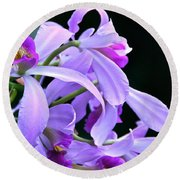 Super Orchid Round Beach Towel