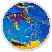 Superconductor Crystal Round Beach Towel