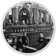 Supreme Court, 1888 Round Beach Towel