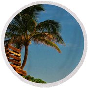 Surf Lookout Round Beach Towel