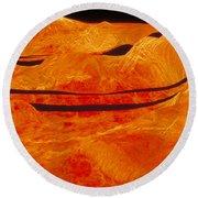 Surface Of Venus Round Beach Towel