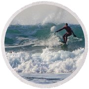 Surfers Paridise Round Beach Towel by Brian Roscorla