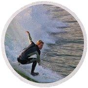Surfin' The Wave Round Beach Towel