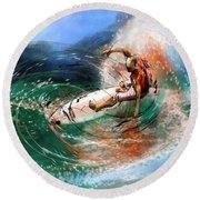 Surfscape 03 Round Beach Towel