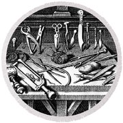 Surgical Equipment, 16th Century Round Beach Towel