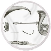 Surgical Instruments, 18th Century Round Beach Towel