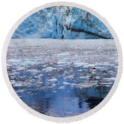 Surprise Glacier Round Beach Towel