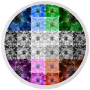 Surreal Poppies Round Beach Towel