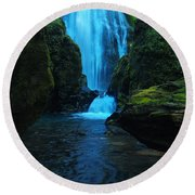 Susan Creek Falls Round Beach Towel