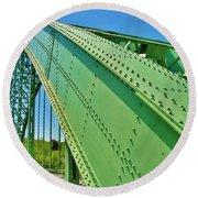 Suspension Bridge Round Beach Towel