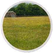 Swaledale Buttercup Meadow Round Beach Towel