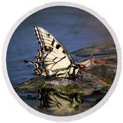 Swallowtail - Walking On Water Round Beach Towel