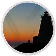 Swallowtail Sunrise - Grand Manan Round Beach Towel