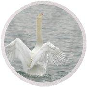 Swan Round Beach Towel
