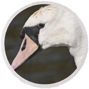Swan's Head Round Beach Towel